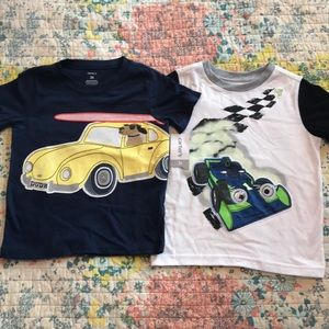 Lot of 2 textured tees 3T